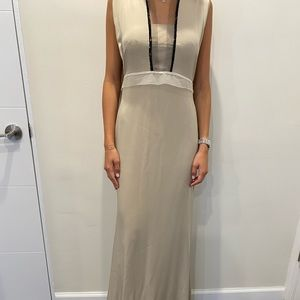 Vera Wang beige/nude gown, size 4